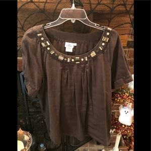 Hot Cotton Blouse with beading detail.